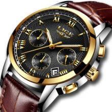 LIGE Watch Multifunction Chronograph Leather LIGE9849
